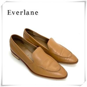 Everlane Modern Slip on Loafers Honey Tan Brown